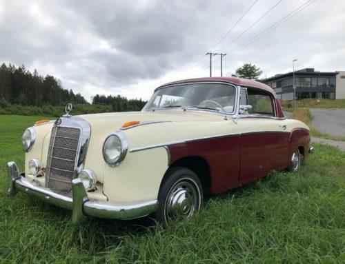 1958 Mercedes Benz 220 S Coupe – en av 1251 produserte – Kr 475.000,-