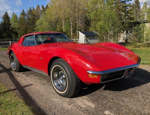 1970 Chevrolet Corvette C3 – uskrudd og fin bil Kr 249.000,-