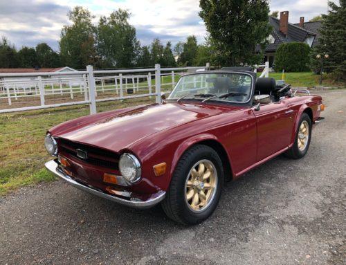 1970 Triumph TR 6 – påkostet – Kr 210.000,-