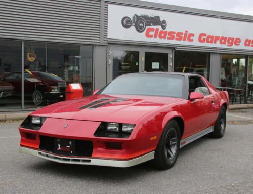 1984 Chevrolet Camaro Z 28 H.O. – en eier siste 22 år – Kr 129.000,-